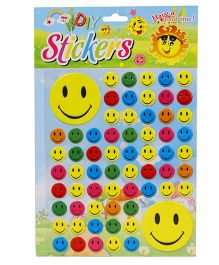 DIY Smiley Face Theme Wall Stickers - Multicolour