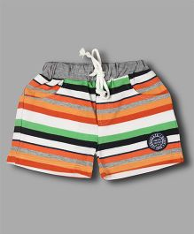 Chocolate Baby Striped Shorts - Orange