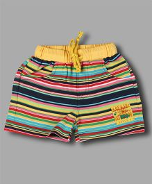 Chocolate Baby Striped Shorts - Yellow