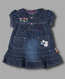 Chocolate Baby Denim Dress - Dark Blue