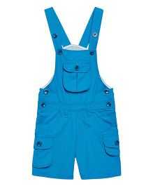 FirstClap Front Pocket Knee Length Dungaree - Blue