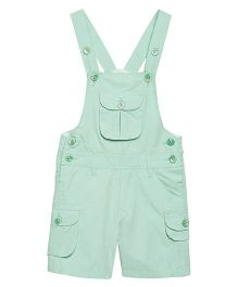 FirstClap Front Pocket Knee Length Dungaree - Sea Green