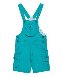 FirstClap Front Pocket Knee Length Dungaree - Turquoise