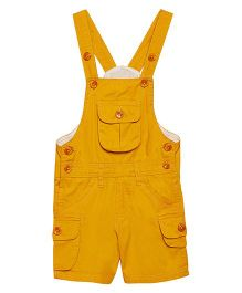 FirstClap Front Pocket Knee Length Dungaree - Mustard