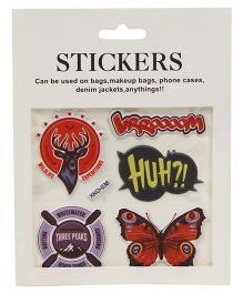 Multi Shape Stickers Pack of 6 - Multi Colour