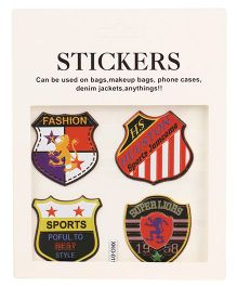 Sport Batch Shape Stickers Pack of 4 - Multi Colour