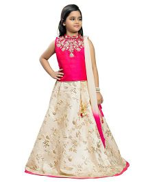 Betty By Tiny Kingdom Floral Design Lehenga & Choli Set - Pink