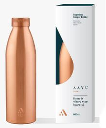 Aayu Home Pure Copper Seamless Bottle - 800 ml