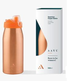Aayu Junior Pure Copper Seamless Bottle - 500 ml