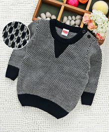 Babyhug Full Sleeves Sweater - Navy Blue