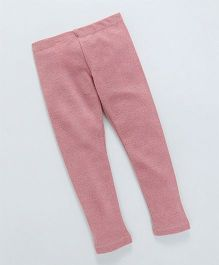 UCB Full Length Solid Colour Leggings - Pink