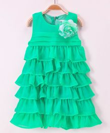 Soul Fairy Ruffles Tiered Dress With Rose - Green