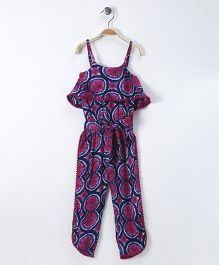 Soul Fairy Printed Strap Jumpsuit - Pink