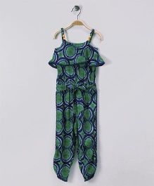 Soul Fairy Printed Strap Jumpsuit - Green