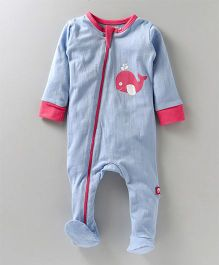 Nino Bambino Full Romper With Footie - Blue