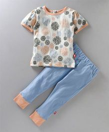 Nino Bambino Top & Bottom Set - Blue & Peach