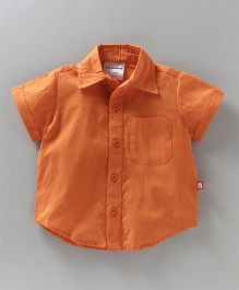 Nino Bambino Solid Half Sleeves Shirt - Orange