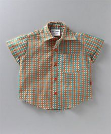 Nino Bambino Checks Shirt - Brown