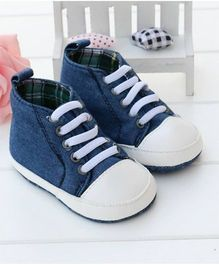 Little Hip Boutique Ankle Length Walkers - Blue & White