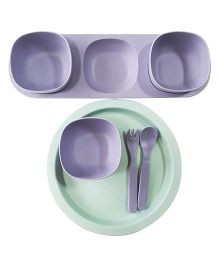 Little Jamun Dinner Set With Bowls & Cutlery - Purple