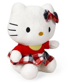 Dimpy Stuff Hello Kitty Soft Toy White Red - 18 cm
