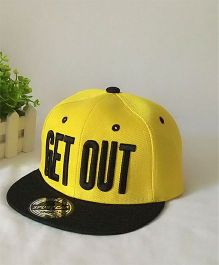 Tipy Tipy Tap Alphabet Baseball Cap - Black & Yellow