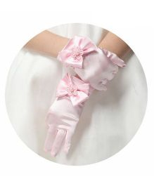 Tipy Tipy Tap Bow Gloves - Pink