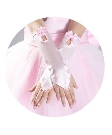Tipy Tipy Tap Long Fingerless Gloves - Pink