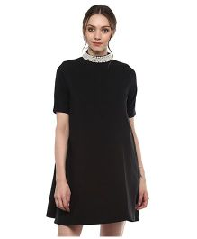 Momsoon Pearl Detail Dress - Black