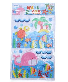 Fish Theme Room Decor Sticker - Blue Pink