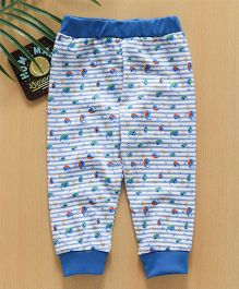 Babyhug Full Length Lounge Pant Whale Print - Blue