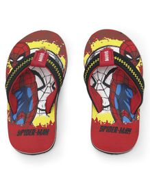 Spider Man Printed Flip Flops - Red