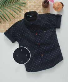 Jash Kids Half Sleeves Printed Shirt - Navy
