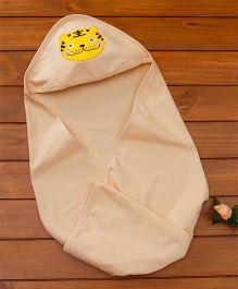 Simply Hooded Towel Tiger Patch - Beige