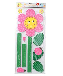 Flower Shape Wall Sticker - Pink Green