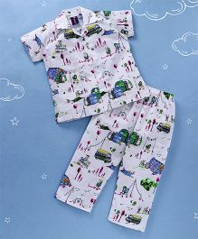 Enfance All Over Night Suit - White