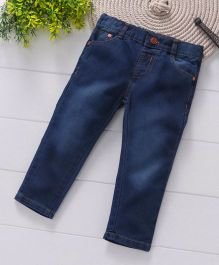 ToffyHouse Full Length Washed Jeans - Dark Blue