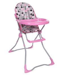 Polka Dot High Chair - Pink