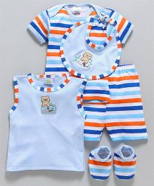 Babyhug Infant Clothing Gift Set Blue - Pack of 5