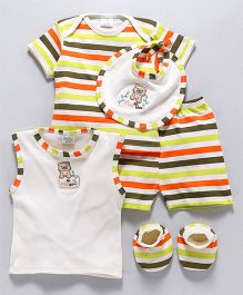 Babyhug Infant Clothing Gift Set Cream Yellow - Pack of 5