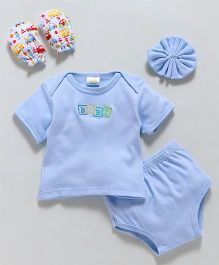 Babyhug Infant Clothing Gift Set Blue - Pack of 4