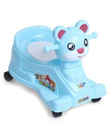 Musical Potty Chair With Wheels - Blue