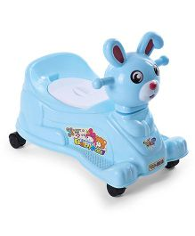 Bunny Shaped Musical Potty Chair With Wheels - Blue
