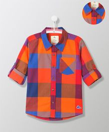 Cherry Crumble California Cotton Check Shirt With Pocket - Multicolor