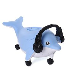 Dolphin Shaped Musical Potty Chair - Light Blue