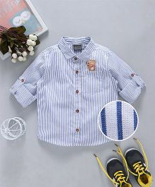 Rikidoos Full Sleeves Striped Shirt - White