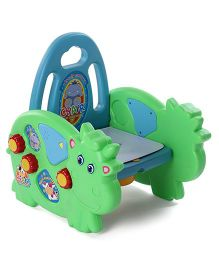 Baby Musical Potty Chair With Backrest - Green Blue