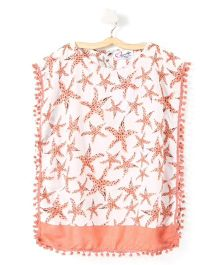 M'andy Starfish Print Kaftan - Peach