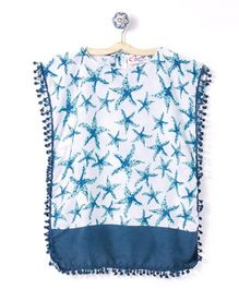 M'andy Starfish Print Kaftan - Blue