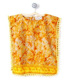 M'andy Dotted Print Kaftan - Yellow